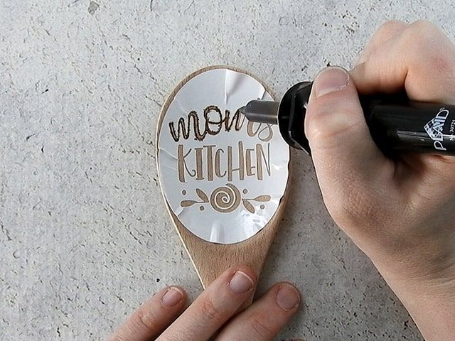 Photo of DIY Personalized Wood Burned Spoon – Burton Avenue