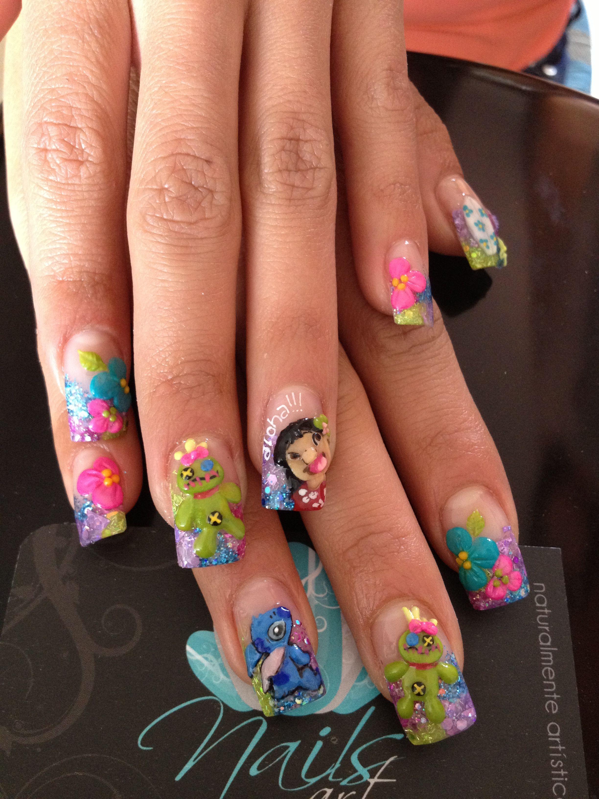 Nails art, lilo & stitch | STITCH!! | Pinterest | Nageldesign