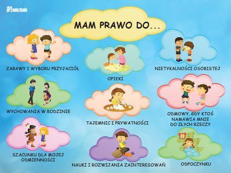 Prawa Dziecka Przedszkole Szukaj W Google Przedszkole