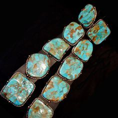 Large SIngle Stone Navajo Turquoise Concho Belt from Jessie Western, London