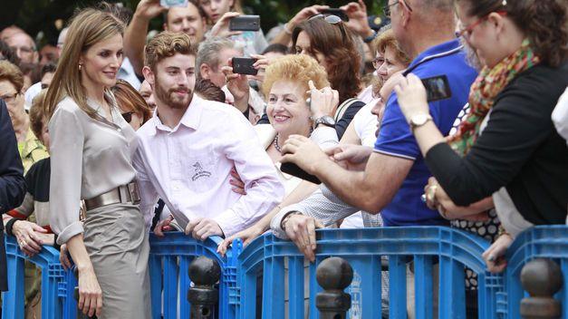 La Reina Letizia en su visita a Oviedo