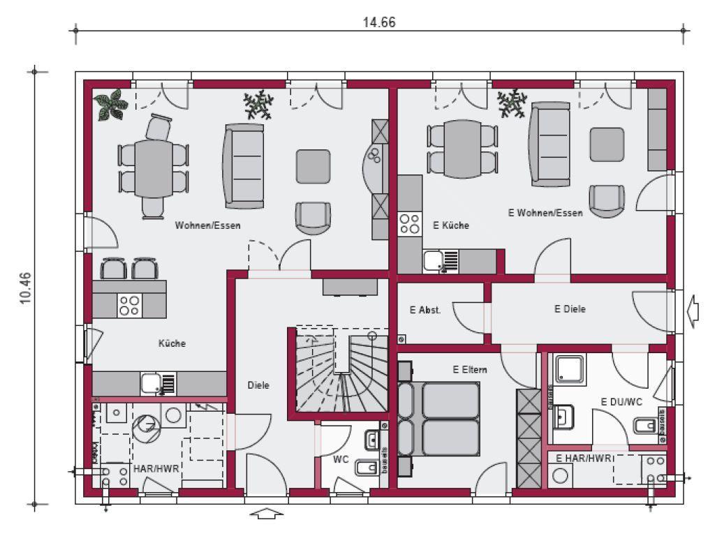 bildergebnis f r haus mit einliegerwohnung plan haus pinterest. Black Bedroom Furniture Sets. Home Design Ideas
