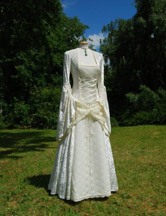 Medieval Wedding Gown Dress Celtic Renaissance Made to order in ...