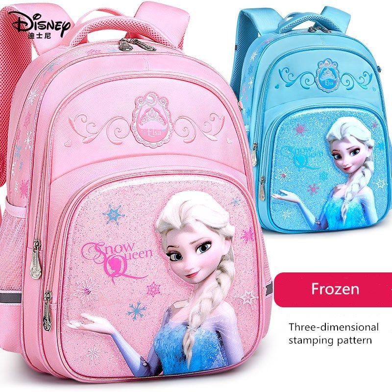2020 Fashion New Disney Schoolbags Elementary School Students Girls Princess Childrens Bags Waterproof Cartoon Offload Backpack