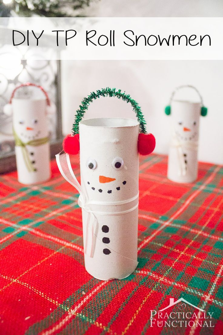 Toilet Roll Craft Ideas For Kids Part - 28: DIY Toilet Paper Roll Snowmen