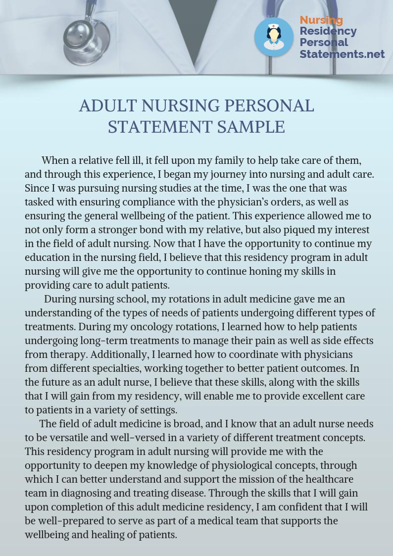 nursing personal statement opening lines