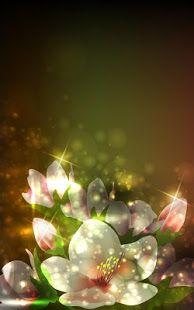 Glowing Flowers Live Wallpaper Screenshot Thumbnail