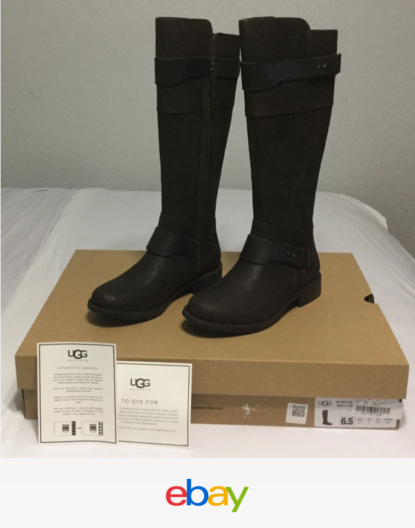 d01828a0607 Details about UGG Australia Women's Dayle Riding Tall Boots Zip ...