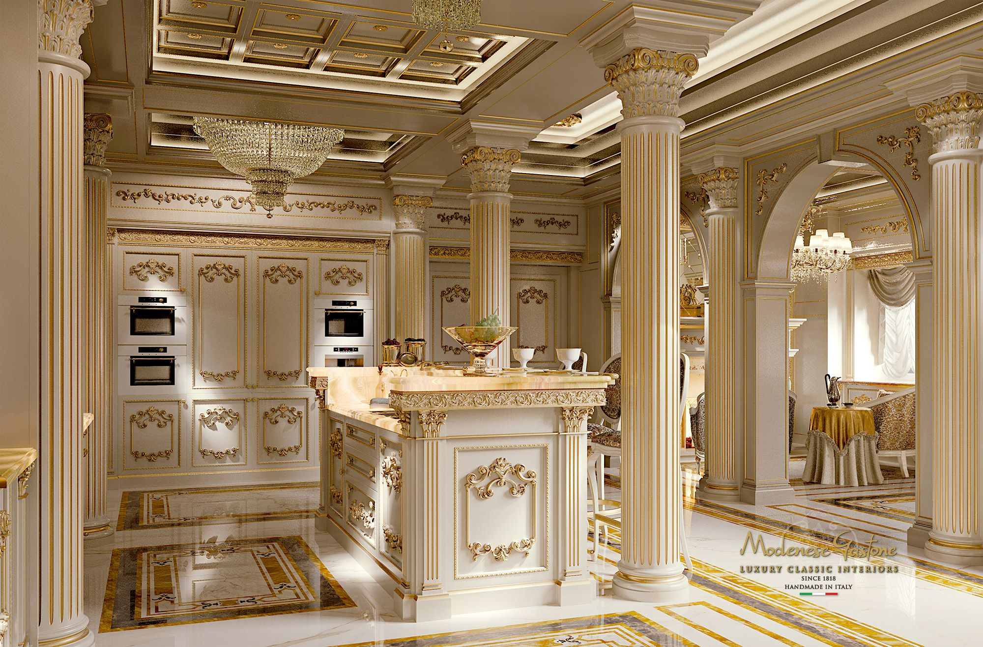 whiteandgold the kitchen royal modenese gastone http amzn to 2kevow4 con immagini on kitchen interior luxury id=46357