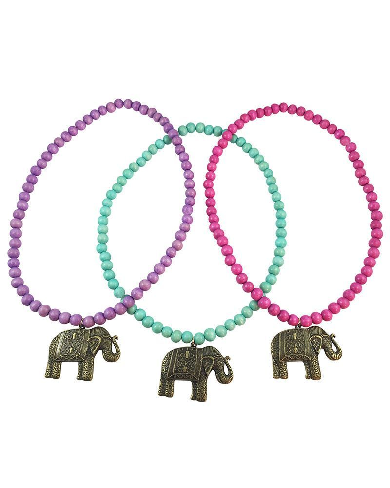 Boho beads elephant beaded necklace jewelry ideas pinterest