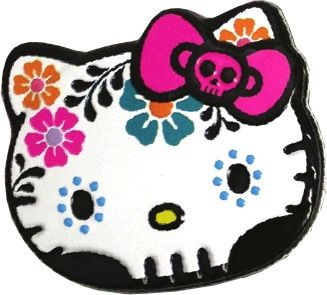Hello Kitty Sweet Skulls Candy Tin [White] Candy flowers