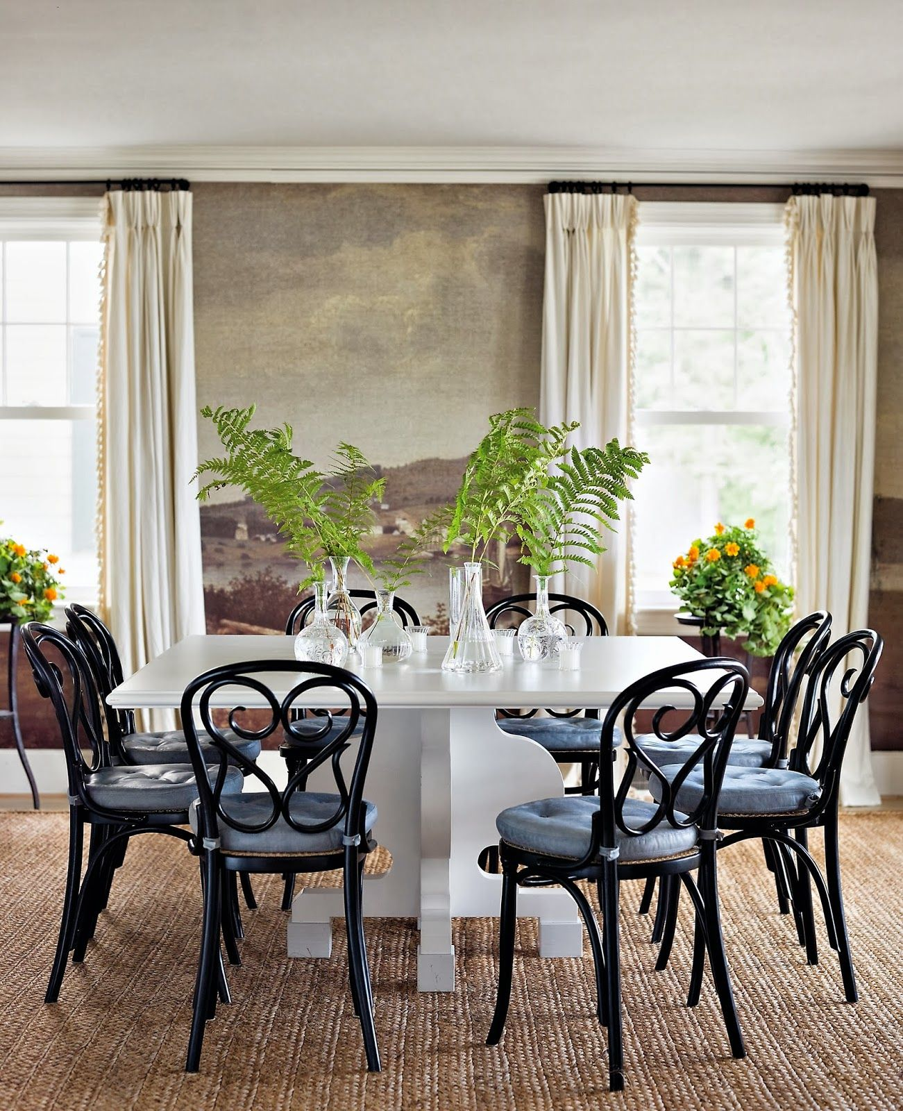 Phenomenal A Family Home In Maine Dining Rooms Bentwood Chairs Interior Design Ideas Gentotryabchikinfo