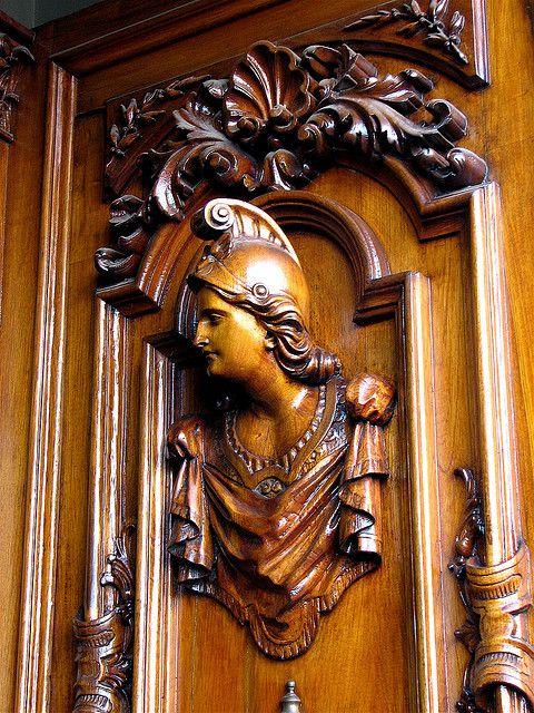 A very ornate door.    Puebla, Mexico