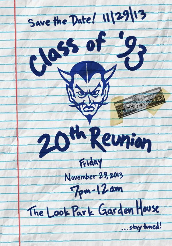 20th Reunion Materials by Eli Neugeboren, via Behance - class reunion invitations templates