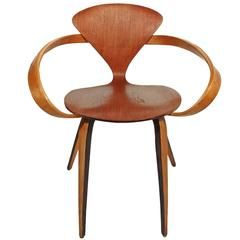 norman cherner chair for plycraft teak and beach