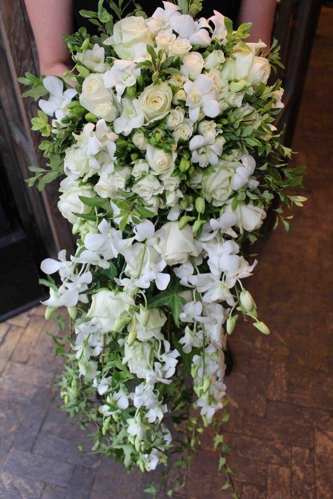 Princess Diana Inspired Cascade Bouquet At Jamie Aston Http Www Jamieaston