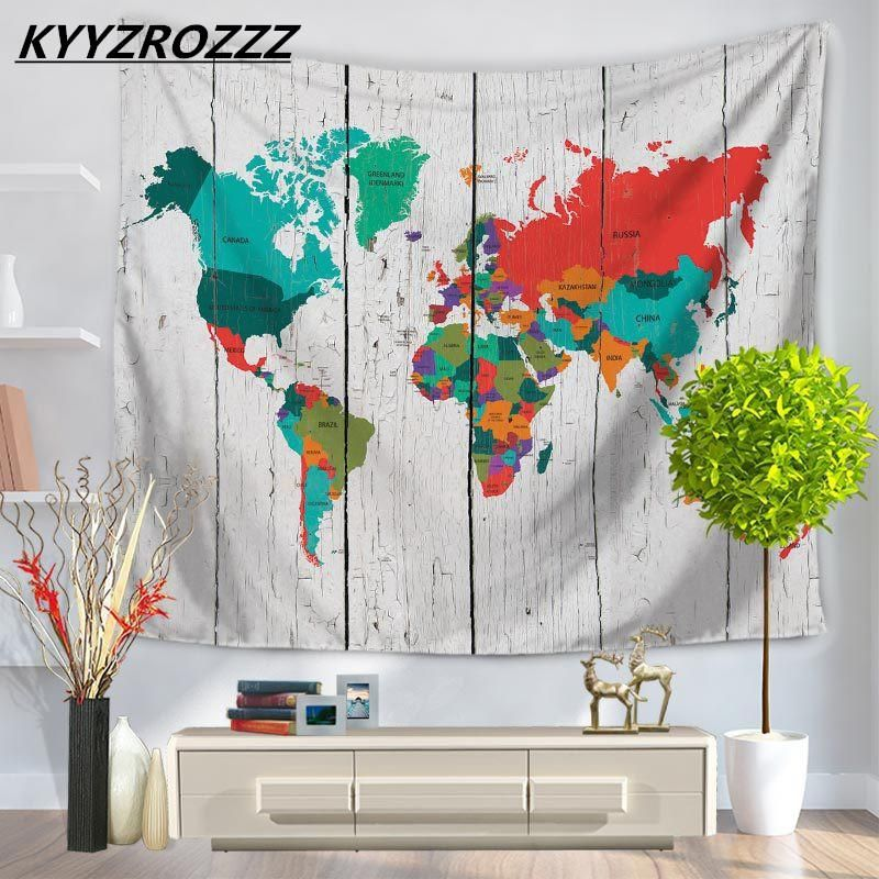Abstract world map tapestry wall hanging sandy beach picnic throw abstract world map tapestry wall hanging sandy beach picnic throw rug blanket camping tent travel sleeping gumiabroncs Images