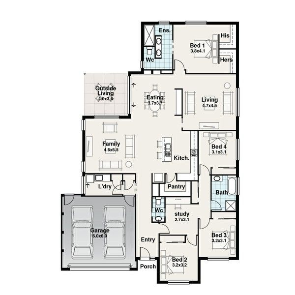 Mackkcon Homes Hamilton House Builder House And Land Floor Plans House Floor Plans Bedroom Floor Plans