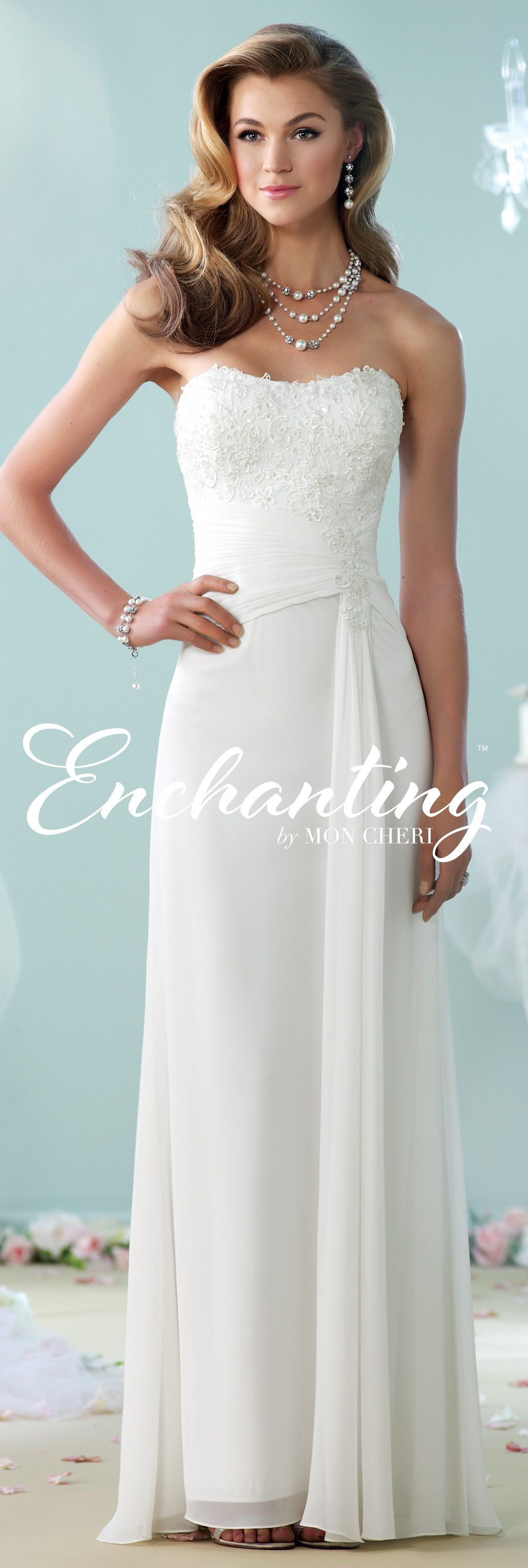 Wedding renewal dresses for beach  Modern Wedding Dresses  by Mon Cheri  Enchanted Collection and