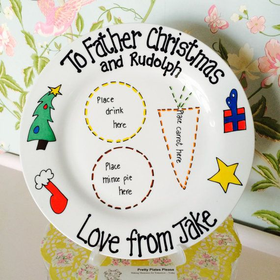 Christmas Eve treats plate for Santa/Father Christmas and Rudolph on Christmas…