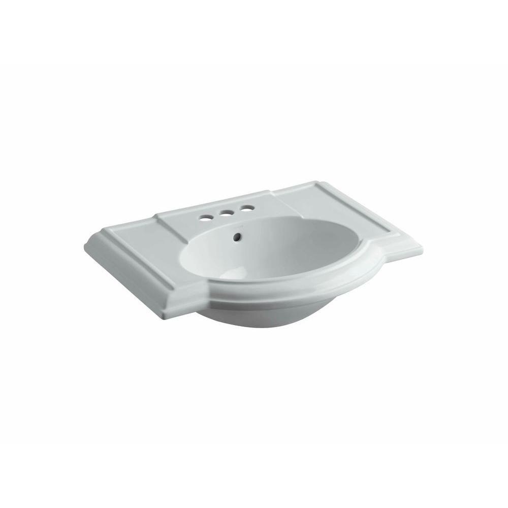 Kohler Devonshire 4 7 8 In Vitreous China Pedestal Sink Basin In