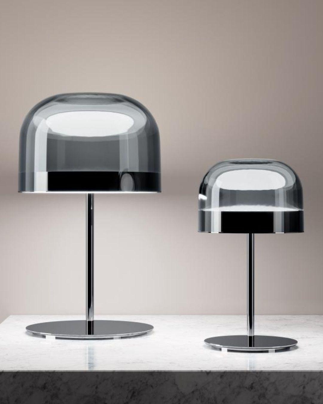 FontanaArte Equatore LED Tischleuchte mit Dimmer, klein ...
