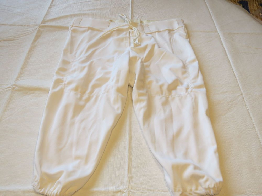 Adams youth xl 3436 football pant 1 pair white athletic