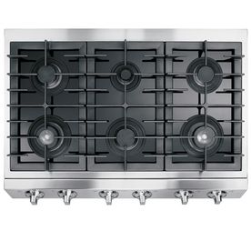 Electrolux ICON 36in 6Burner Gas Cooktop (Stainless) to