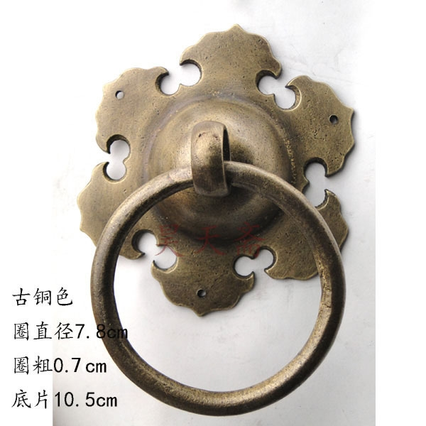 (76.70$)  Buy here - http://aii7m.worlditems.win/all/product.php?id=32425312084 - [Haotian vegetarian] antique door knocker Chinese decoration door handle copper cymbals handle HTA-082