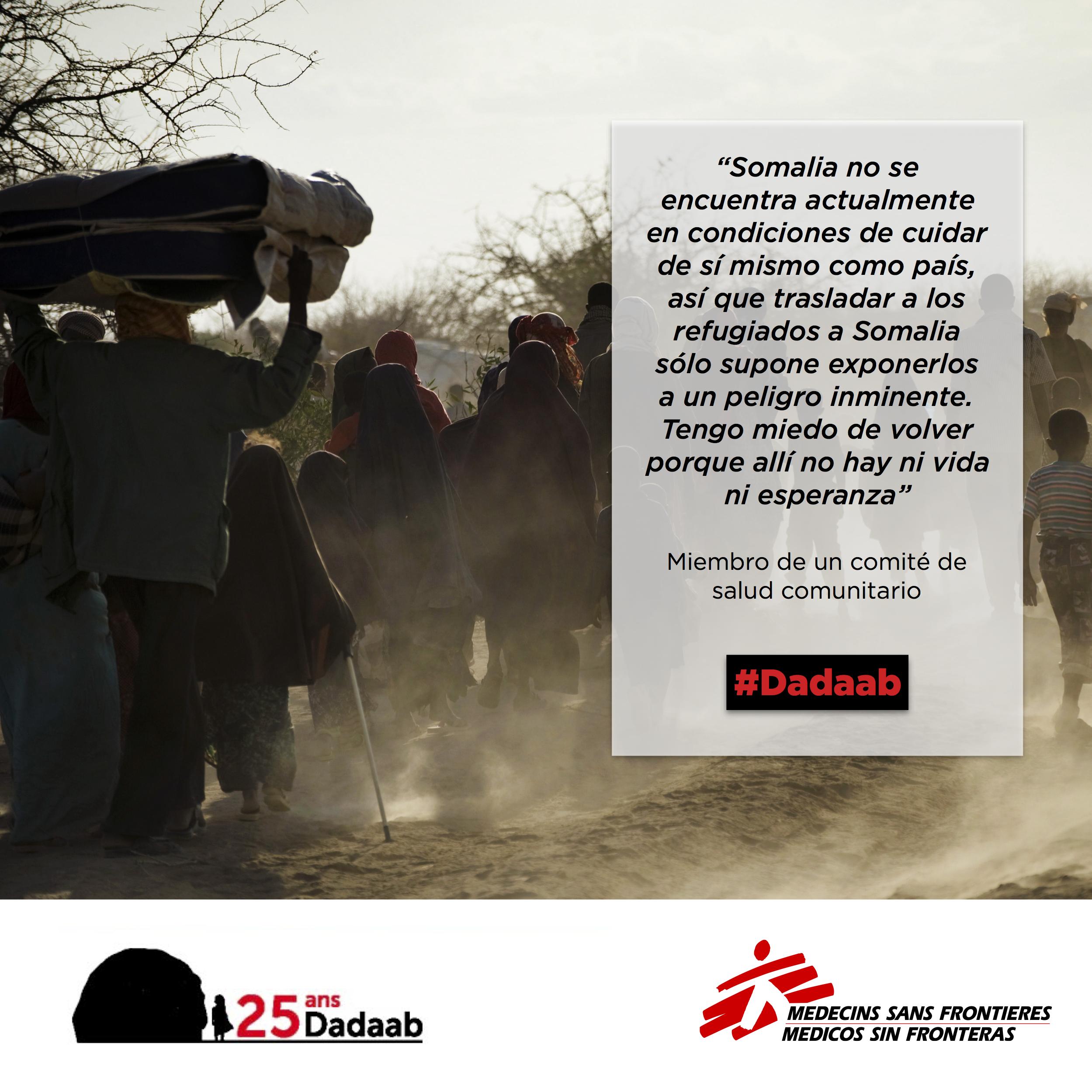 Para los refugiados de #Dadaab, permanecer en #Kenia o ser enviados de vuelta a #Somalia es una elección entre la vida y la muerte. Leer más: http://bit.ly/2dyzMA7