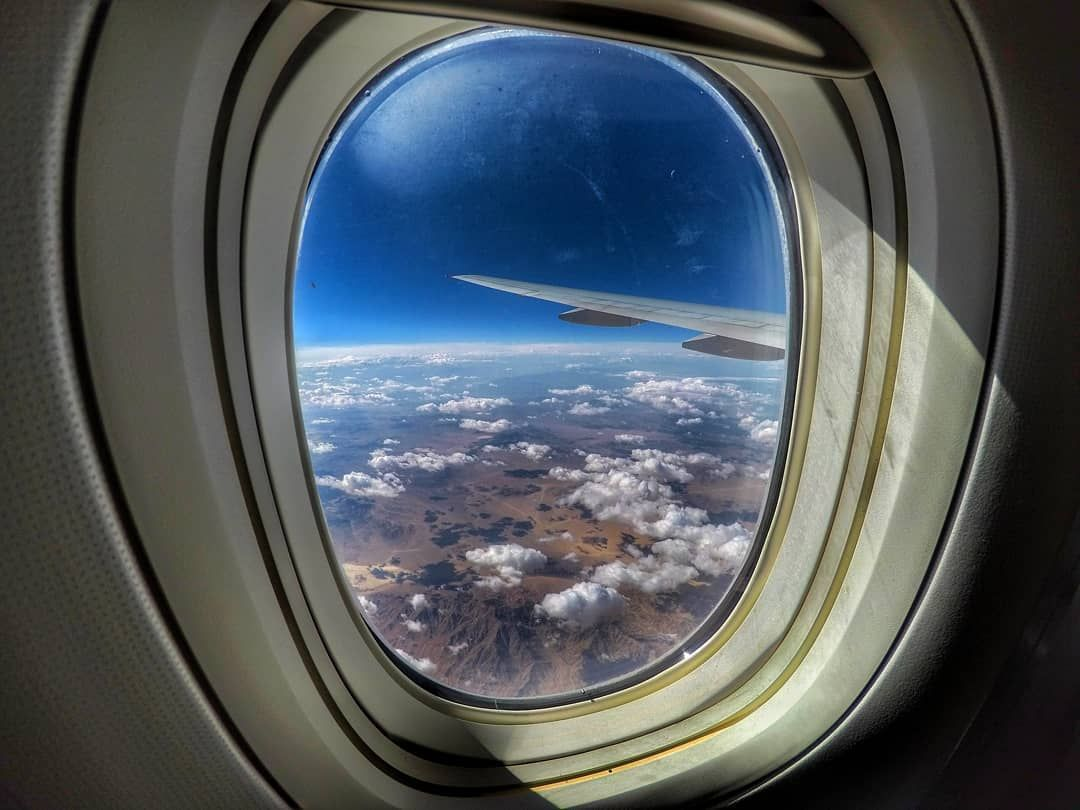 What A View Wing Sky Bluesky Sun Mountains Horizon Clouds Trip Austrianairlines Wingview Window Gop Aviation Photography Airplane View Instagram