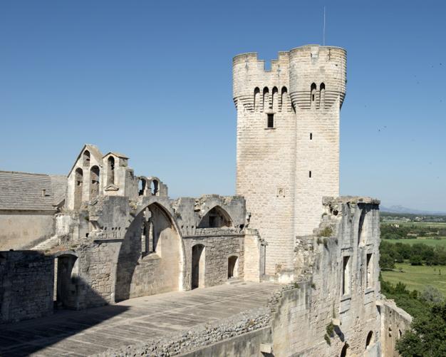 La Tour Pons De L Orme Xive S Abbaye De Montmajour Arles Provence Alpes Cote D Azur Chateau France Chateaux Abandonnes Monument