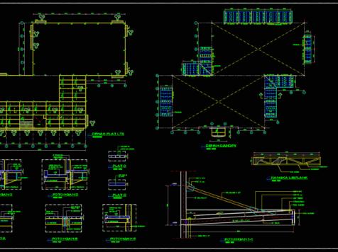 download gambar detail plat lantai dan kanopi dwg autocad