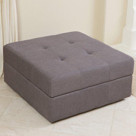 Sensational Zillah Brown Grey Fabric Storage Ottoman Walmart Com Caraccident5 Cool Chair Designs And Ideas Caraccident5Info
