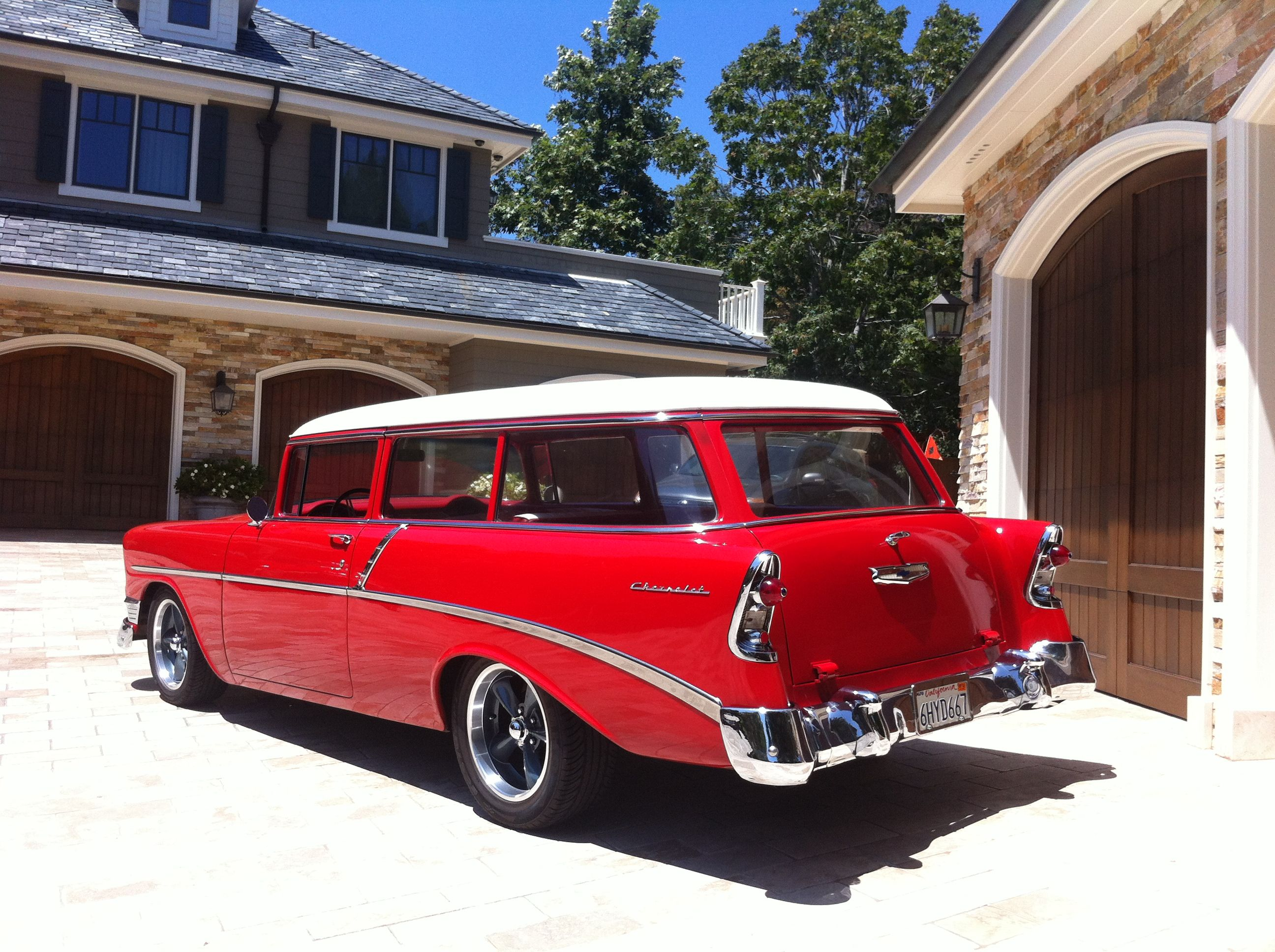 1955 chevrolet handyman 2 door wagon street rod - 1956 Chevy 210 Wagon Handyman Red For Sale In United States 30 000