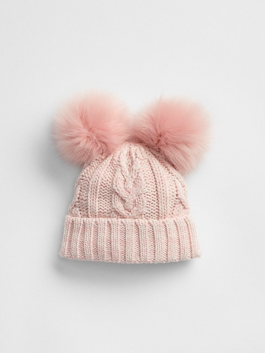 41a280cae81 Gap Baby Pom Cable-Knit Beanie Classic Pink