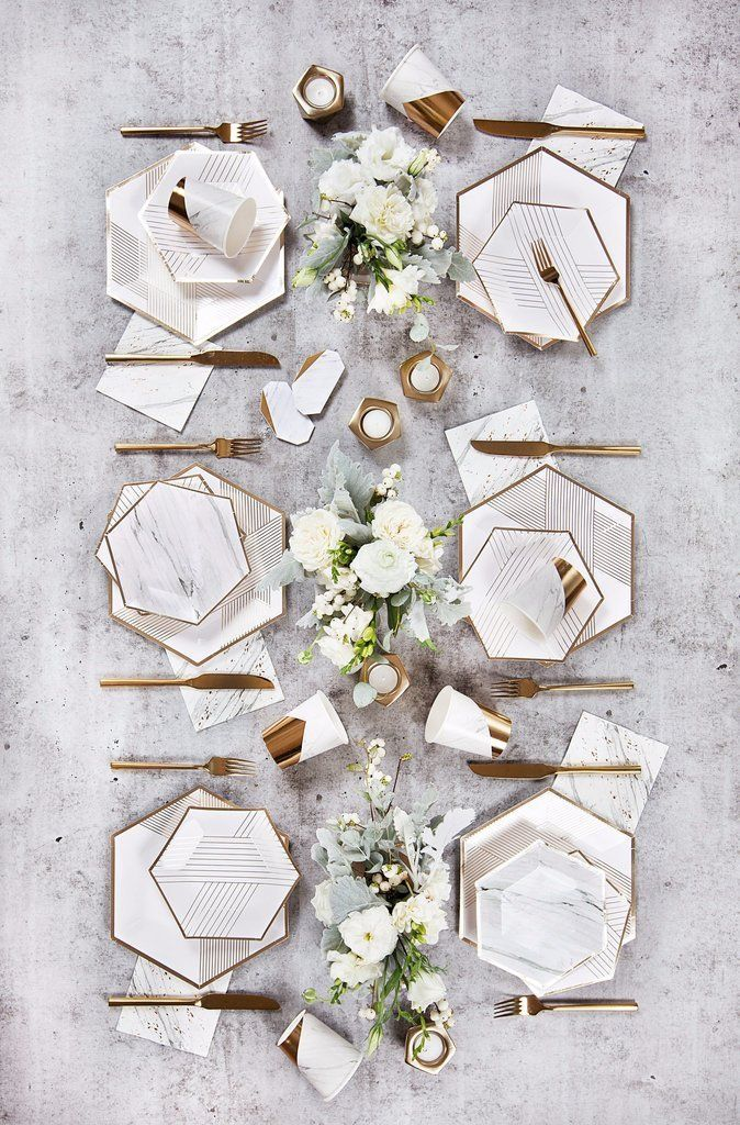 Blanc – White Marble Cocktail Paper Napkins design by Harlow & Grey