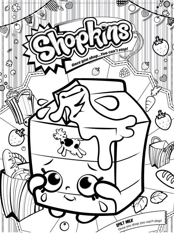 Shopkins Leite Paginas Para Colorir Desenhos Para Criancas Colorir Shopkins