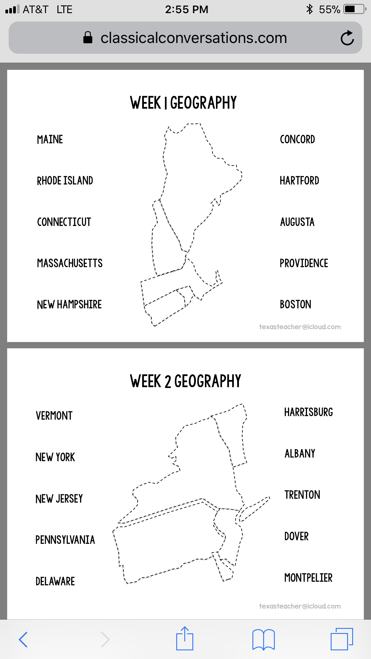 Cc Inspired Geography States And Capitals Cc