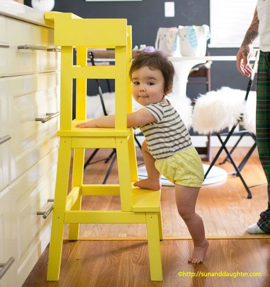 bauanleitung f r einen lernturm aus einem ikea hocker montessori. Black Bedroom Furniture Sets. Home Design Ideas
