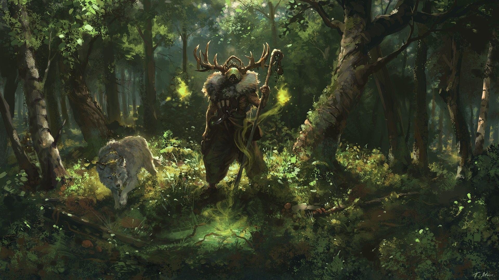 Fantasy Druid Wallpaper Fantasy Landscape Druid Fantasy Artwork