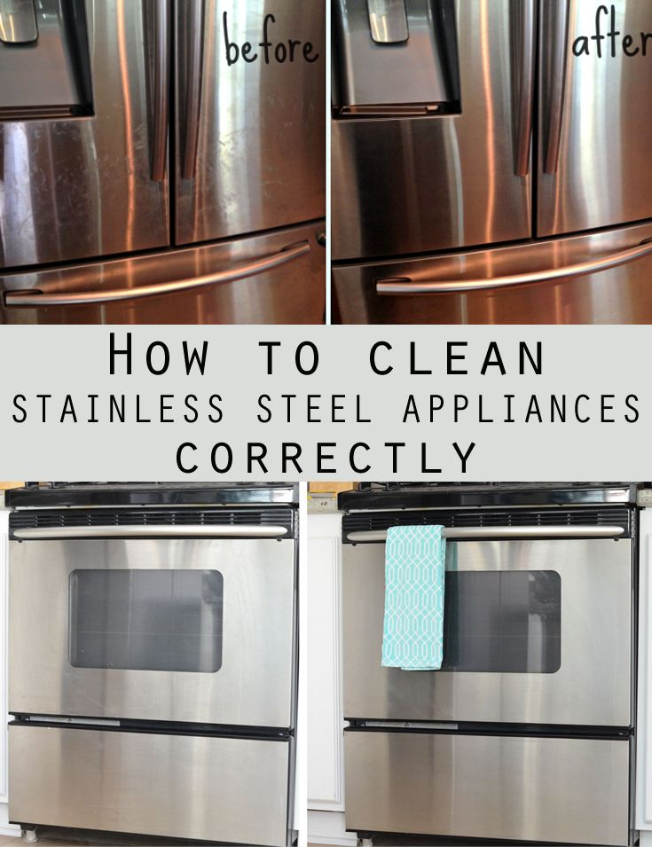 How To Clean Stainless Steel Appliances Correctly Cleaning