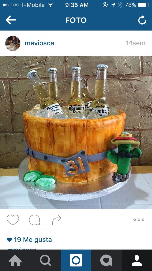 , Beer cake, corona cake,men cake ,Father's Day cake, Father's Day ideas cake,pastel de corona,, Hygen Blogs 2020, Hygen Blogs 2020