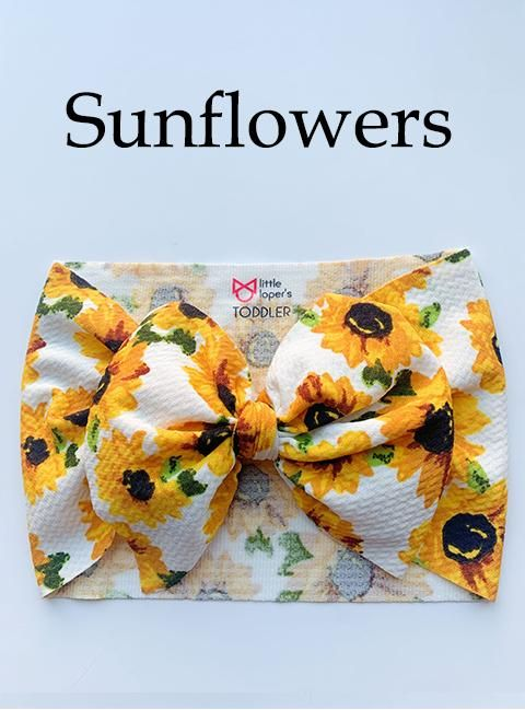 Little Lopers Bow: Sunflowers