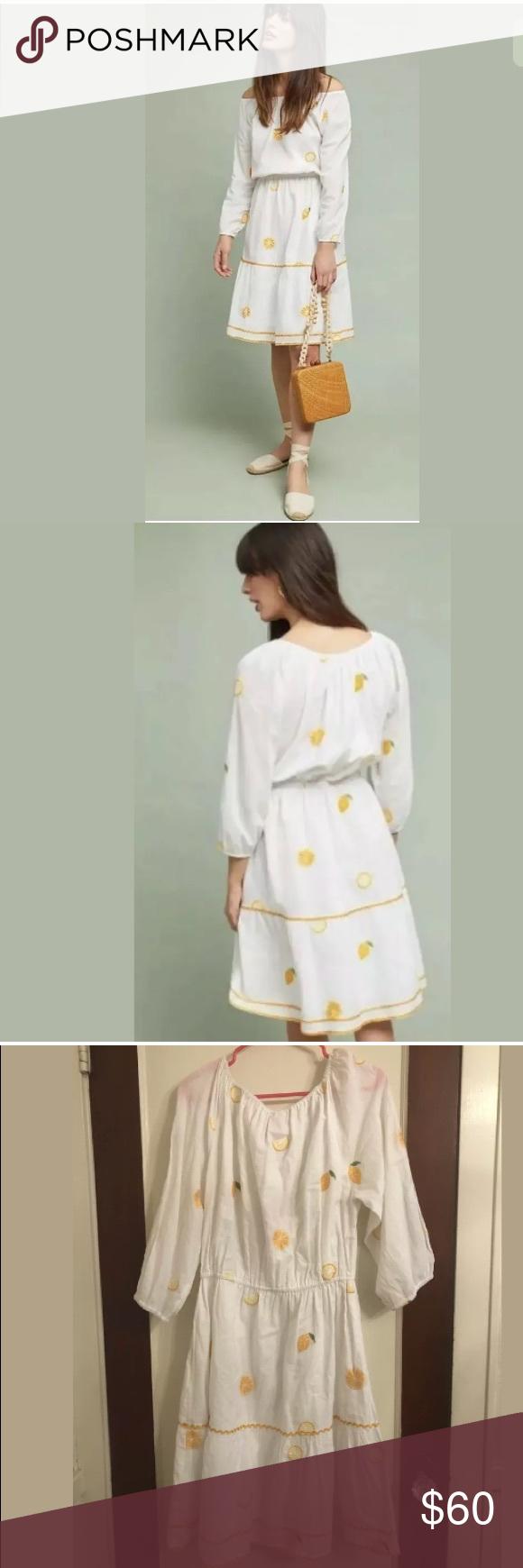 Anthropologie Nimo With Love White Lemon Dress Xl Anthropologie Nimo With Love White Lemon Dress Size Xl Nwot Line Th Lemon Dress Xl Dress Anthropologie Dress [ 1740 x 580 Pixel ]