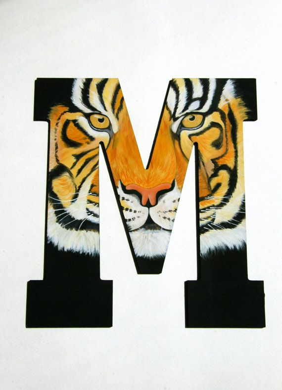 Mizzou Hand Painted Wooden Letter via ApricotSeed on Etsy