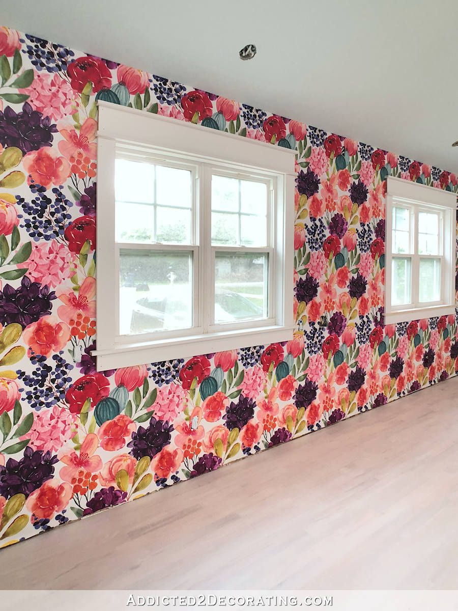 Studio Wallpaper Is Up! (Plus, Tips For Installing Spoonflower Wallpaper) - Addicted 2 Decorating®