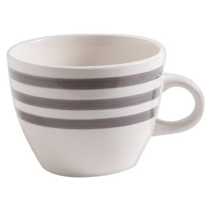 Bistro Gray Stripe Threshold Mug