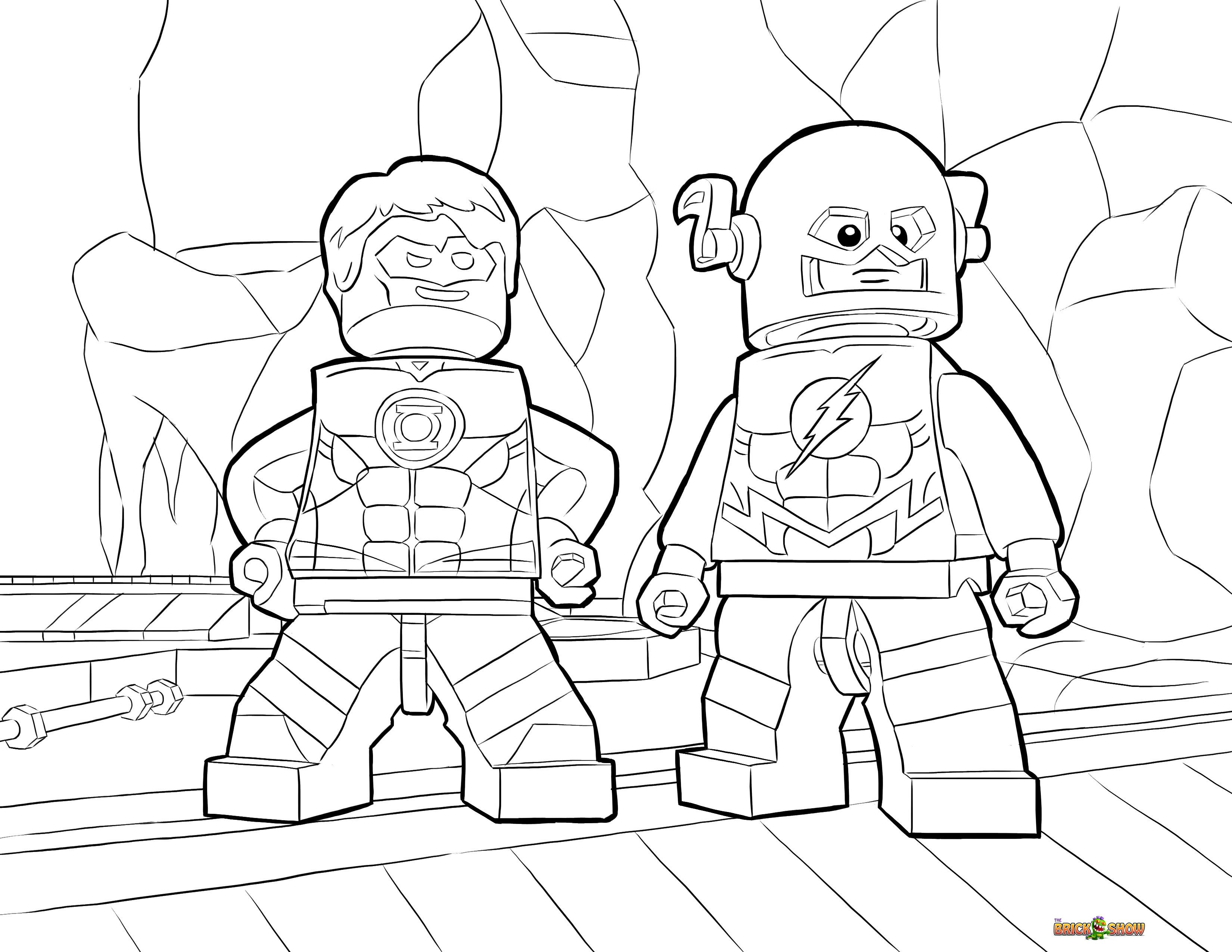 Lego Batman 3 Beyond Gotham Coloring Pages Superhero Coloring