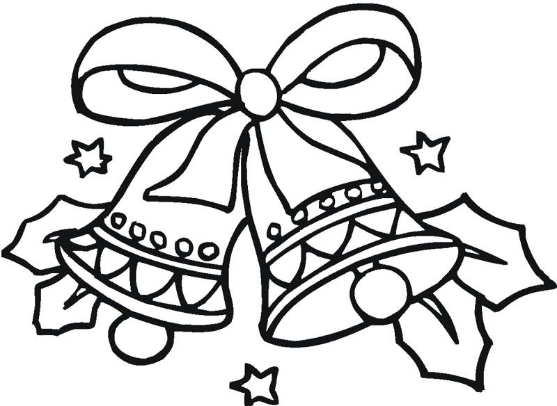 Christmas Coloring Pages Bells Display